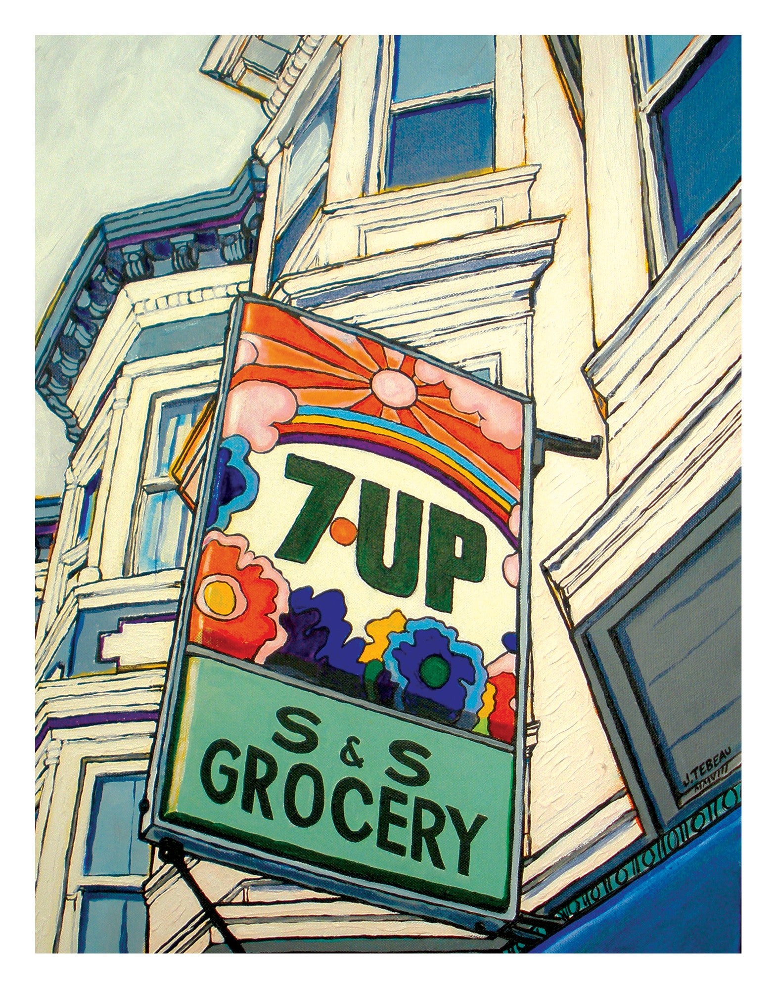 san francisco art old 7up sign by John Tebeau