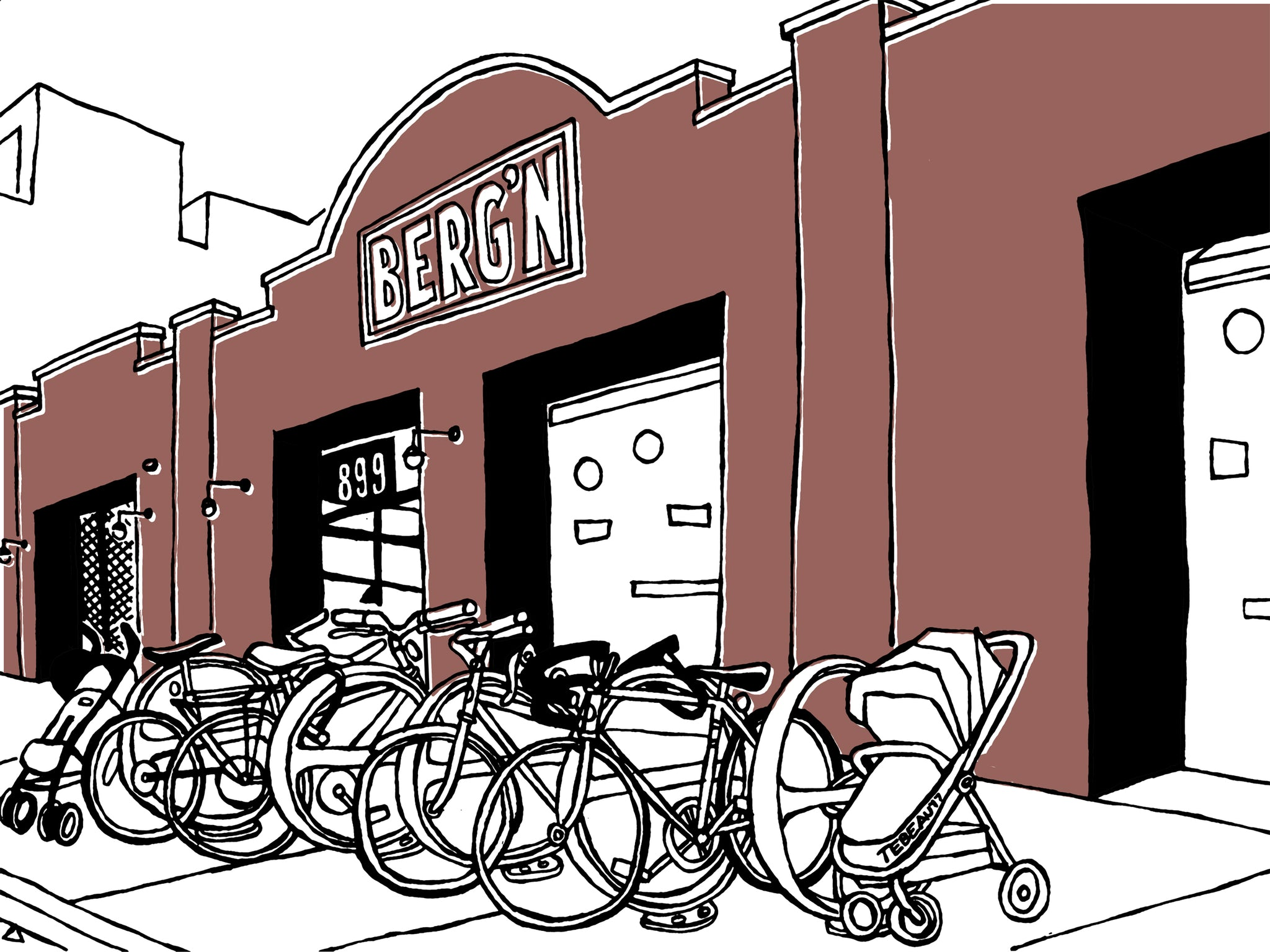 BERG'N of Crown Heights, Brooklyn: signed BERGN art prints. (ships free in the US)