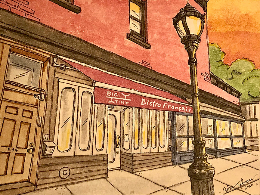 Big Tiny bistro wine bar of Brooklyn, NY signed prints. (ships free in the US)