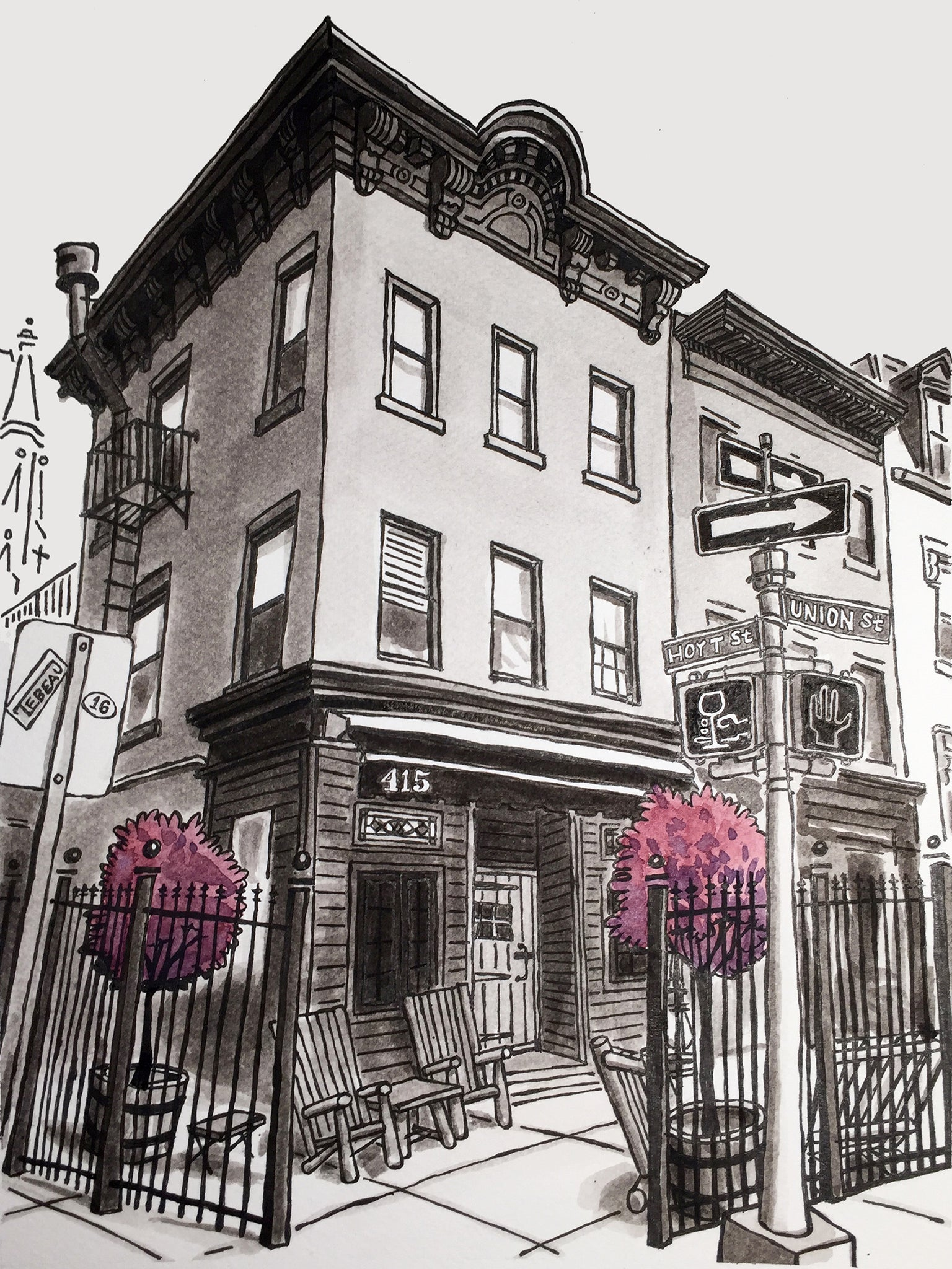 Black Mountain Wine House of Brooklyn, New York signed prints. (ships free in the US)