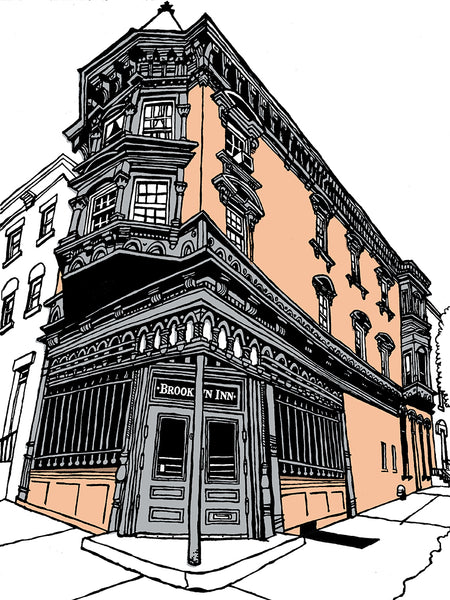 Brooklyn Inn of New York signed prints (ships free in the USA)