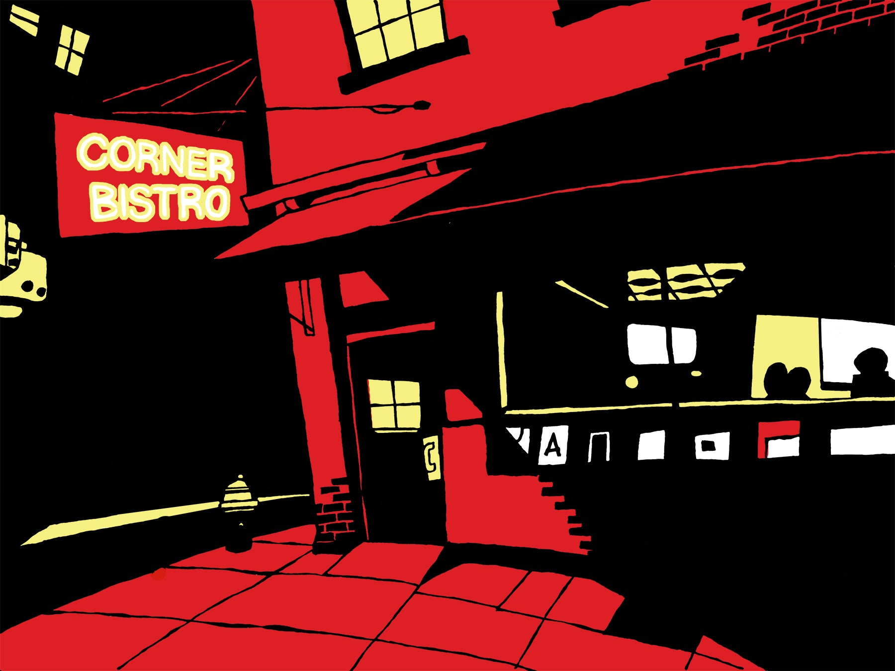 Corner Bistro of the West Village in Manhattan, New York signed prints. (ships free in the US)