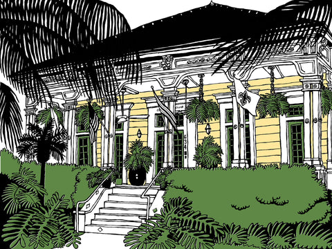 The Country Club of New Orleans: Signed, limited-edition print of a Great Good Place by John Tebeau