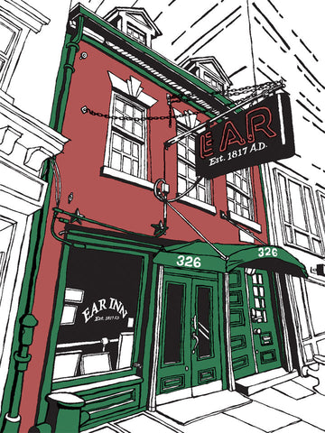 The Ear Inn: Signed, limited-edition print of a Great Good Place of New York