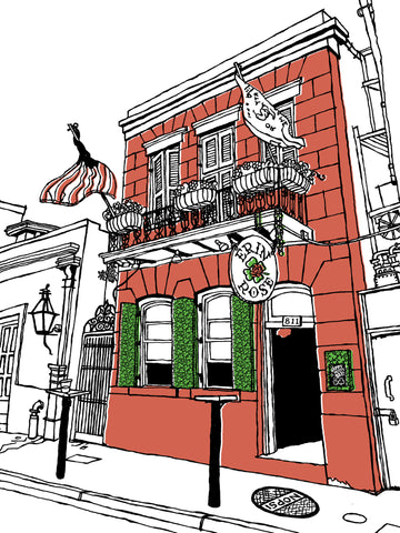 The Erin Rose bar of New Orleans: Signed, limited-edition print of a Great Good Place by John Tebeau