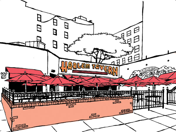 Harlem Tavern of New York City, signed art prints (free shipping in the US)