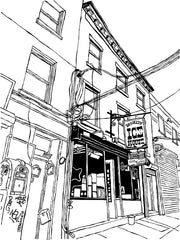 Vesuvio Café art print of San Francisco. Digital prints of a great SF bar.