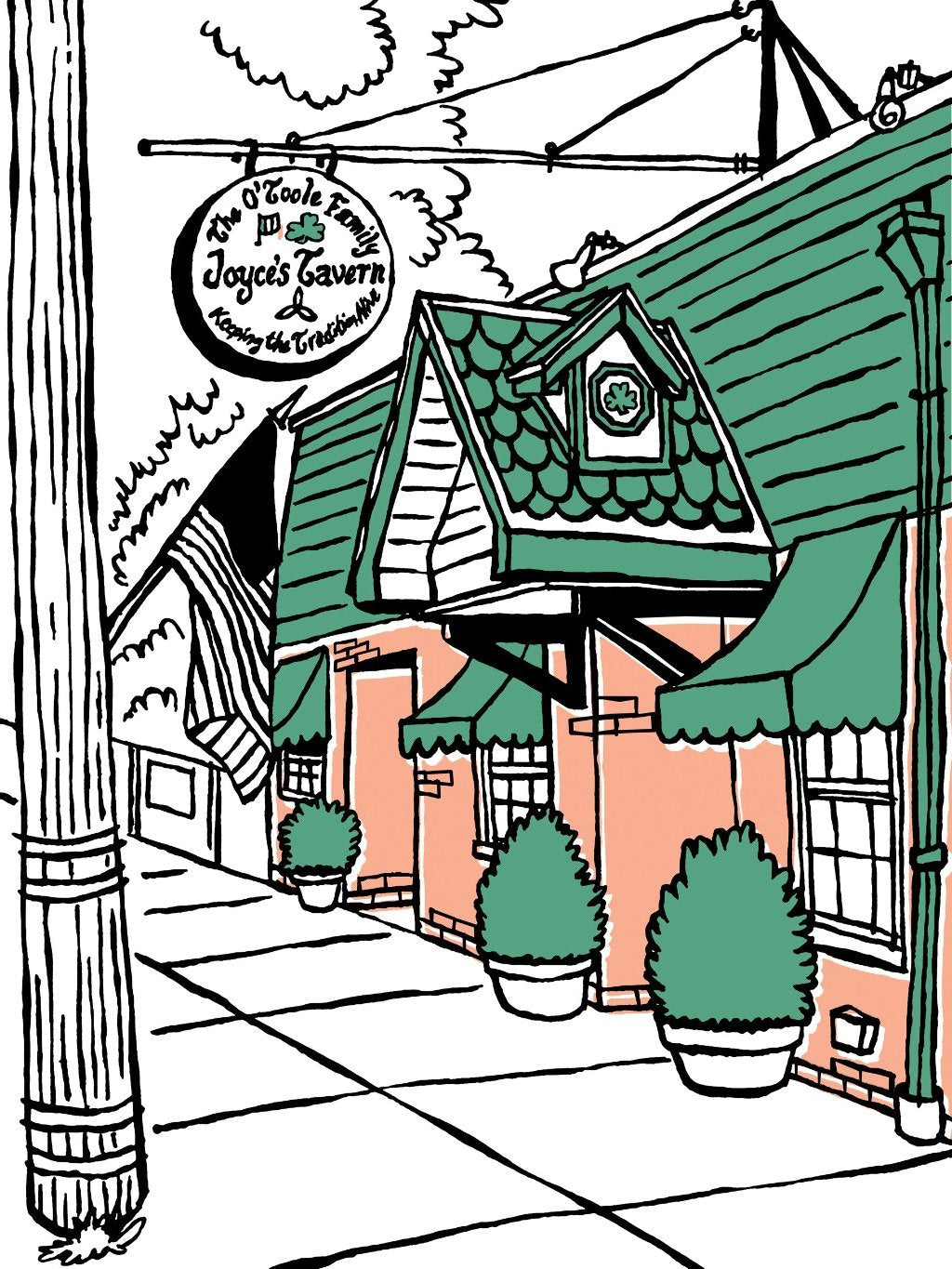 Joyce's Tavern of Staten Island, NY signed prints. (ships free in the US)