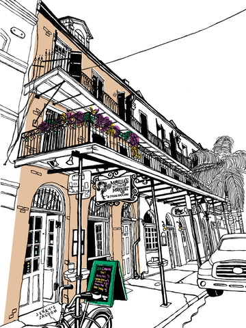 Molly's at the Market of New Orleans: Signed, limited-edition print of a Great Good Place by John Tebeau