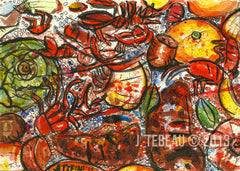 new orleans crawfish boil painting by john tebeau