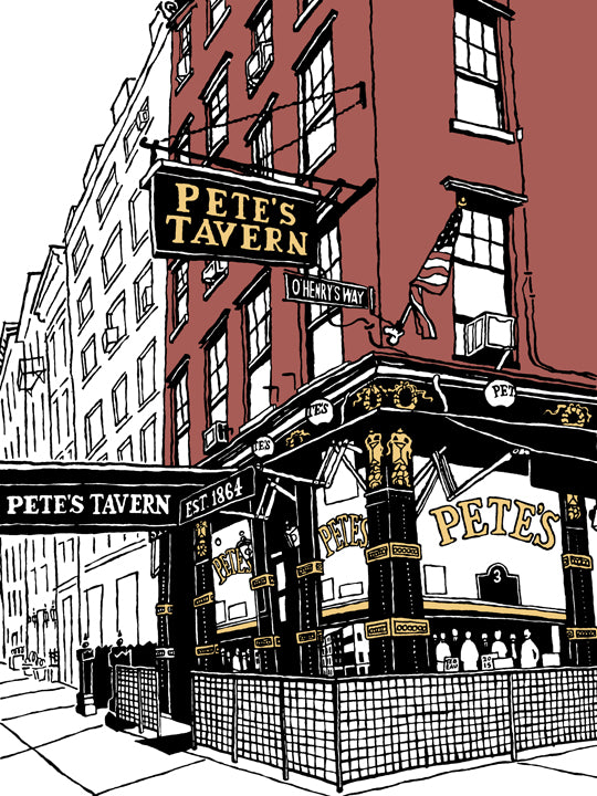 pete's tavern of new york art by john tebeau