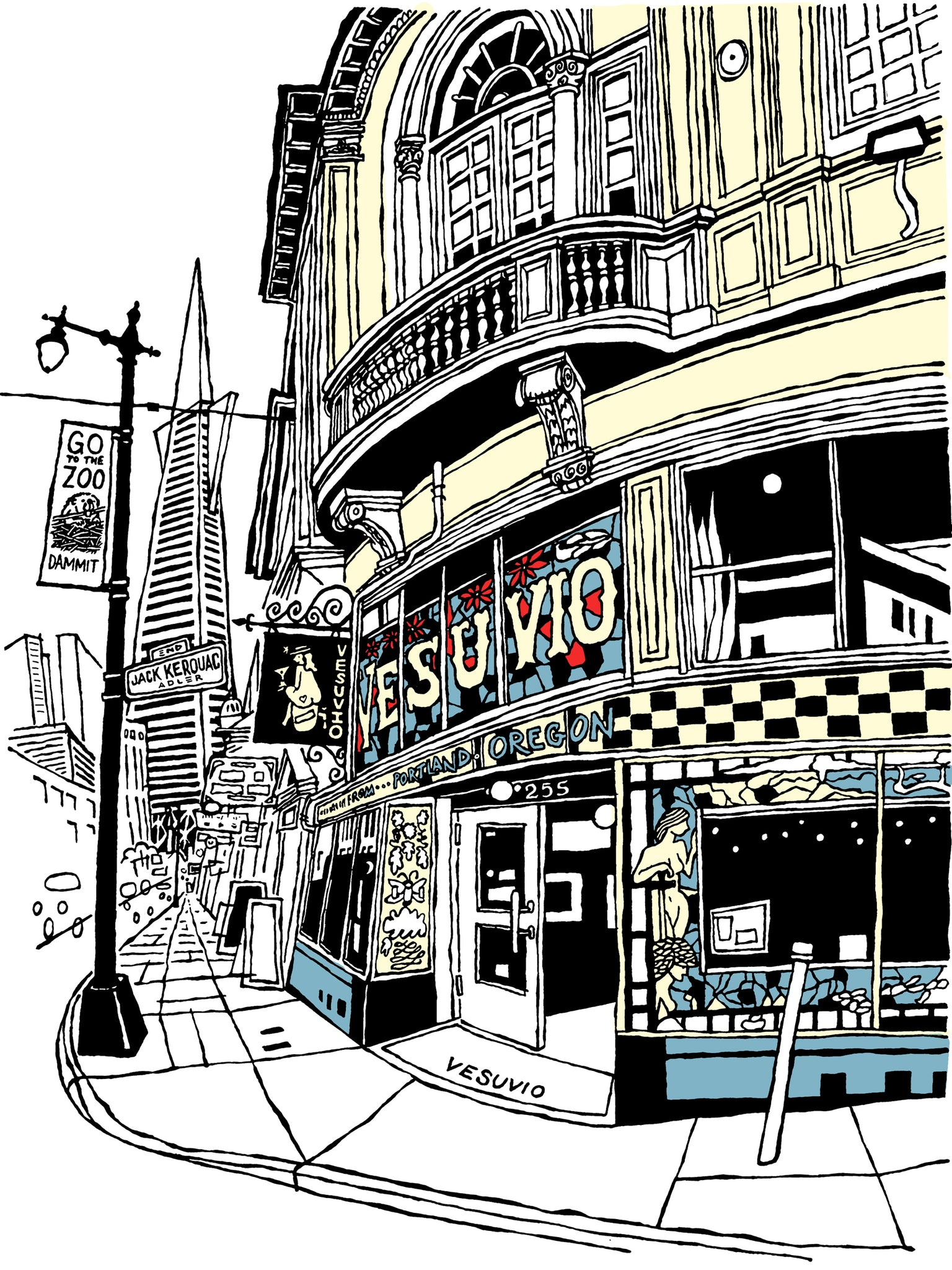 Vesuvio Café of San Francisco signed prints