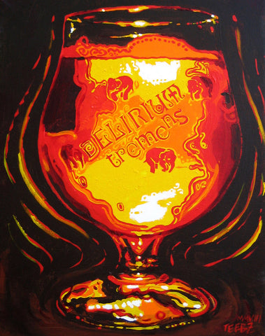 Delerium Tremens Beer Art Print, signed by the artist