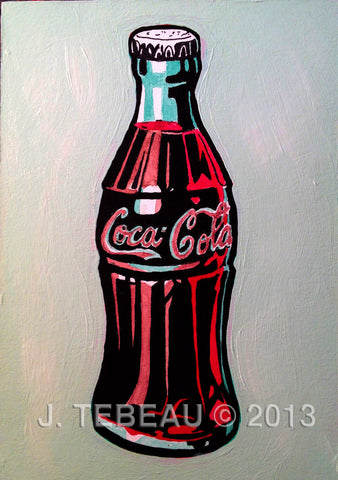 Old Skool Coke Bottle, original painting by John Tebeau
