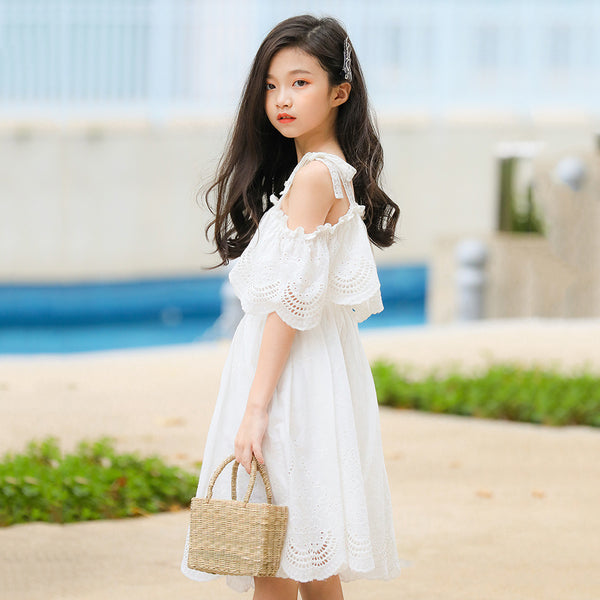 2020 Summer children's clothing girls lace dress skirt big virgin Korean explosion models princess dress sling behalf - Marka Vip Online - ماركة