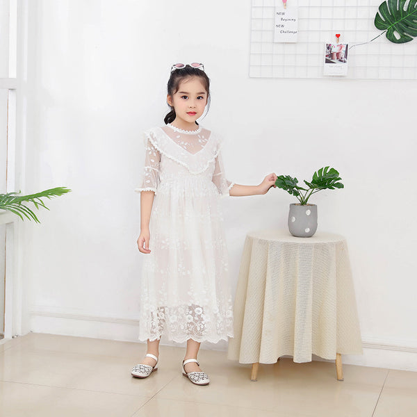 2020 summer new dress Korean version can Ailei Si princess skirt tidal range of children's short-sleeved dress - Marka Vip Online - ماركة