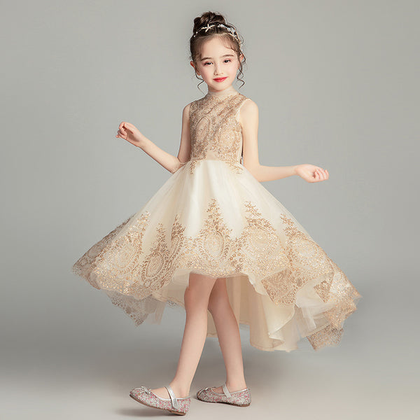 2020 new children's dress princess dress flower girl dress costumes piano temperament catwalk Moderator - Marka Vip Online - ماركة