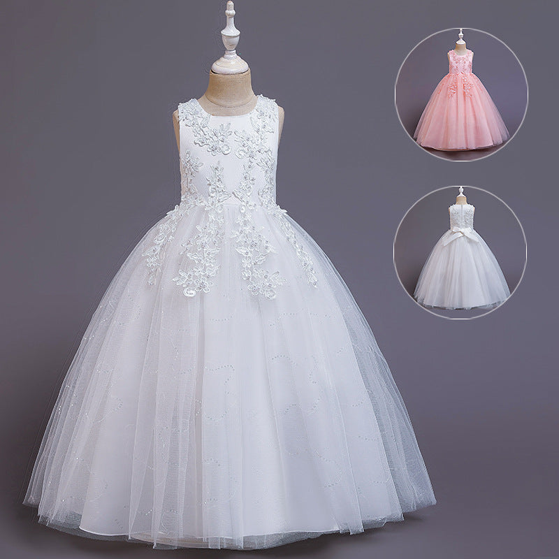2020 new European and American high-end embroidered princess dress tutu dress little girl dress costumes presided over the evening - Marka Vip