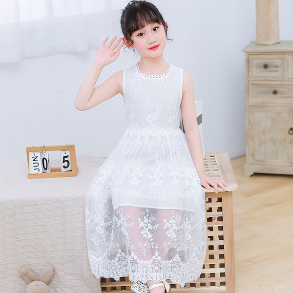 2020 summer new children's clothing girls dress Korean sleeveless lace princess girls dress children dress wholesale - Marka Vip Online - ماركة