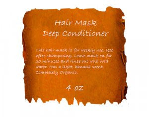 Hair Mask-Deep Conditioner 4 oz Jar