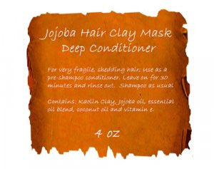 Jojoba Hair Clay Mask 4 oz