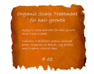 Organic Scalp Treatment for Hair Growth 4oz