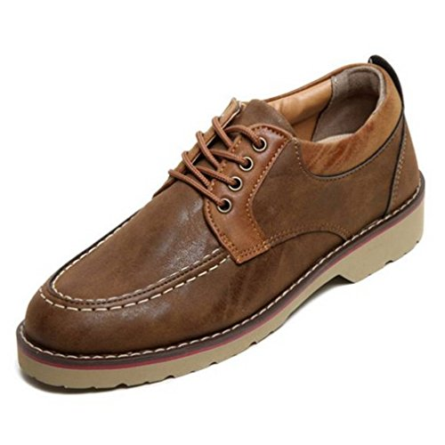 EpicStep Men's Casual Leather Sneakers Lace Up Oxfords Loafers Driving Shoes