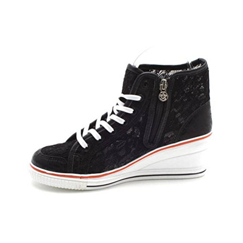 EpicStep Women's High Top Lace Up Mesh Shoes Fashion Sneakers