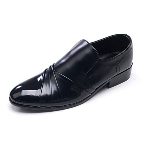 EpicStep Men's Stylish Leather Shoes Dress Formal Business Casual Slip On Oxfords Loafers