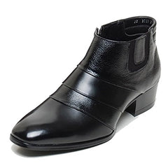 EpicStep Men's Genuine Leather Shoes Dress Formal Business Casual Two Tone Ankle Boots