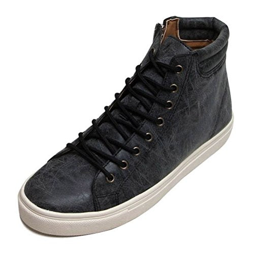 EpicStep Men's Casual Zip Lace Up Ankle Boots High Top Sneakers Loafers Elevator Shoes