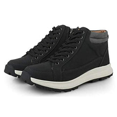 EpicStep Men's Casual Simple Leather High Top Lace Up Fashion Sneakers Shoes