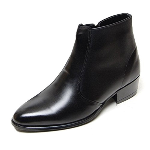 EpicStep Men's Genuine Cow Leather Dress Shoes Formal Casual Zipper Ankle Boots