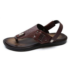 EpicStep Men's Summer Leather Flip Flops Sandals Slippers