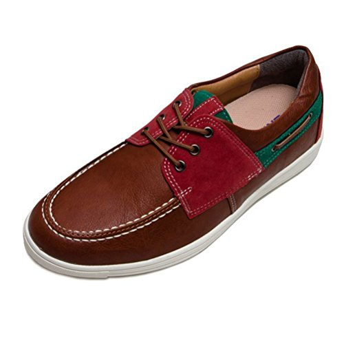 EpicStep Men's Casual Boat Shoes Lace Up Multi-Color Sneakers Loafers Elevator Shoes