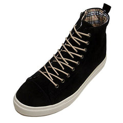 EpicStep Men's Casual Lace Up Zip High Top Ankle Sneakers Canvas