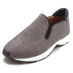 EpicStep Men's Casual Simple Lightweight Stripped Canvas Slip On Shoes Sneakers Flats Loafers