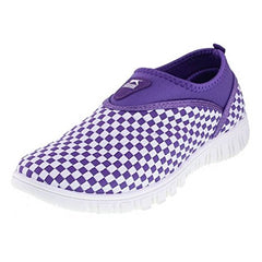 EpicStep Women's Woven Elastic Lightweight Athletic Water Beach Aqua Slip On Sneakers Shoes