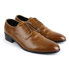 EpicStep Men's Leather Classic Simple Dress Formal Casual Lace Up Oxfords Shoes