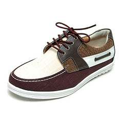 EpicStep Men's Casual Boat Shoes Lace Up Weave Hemp Sneakers Loafers