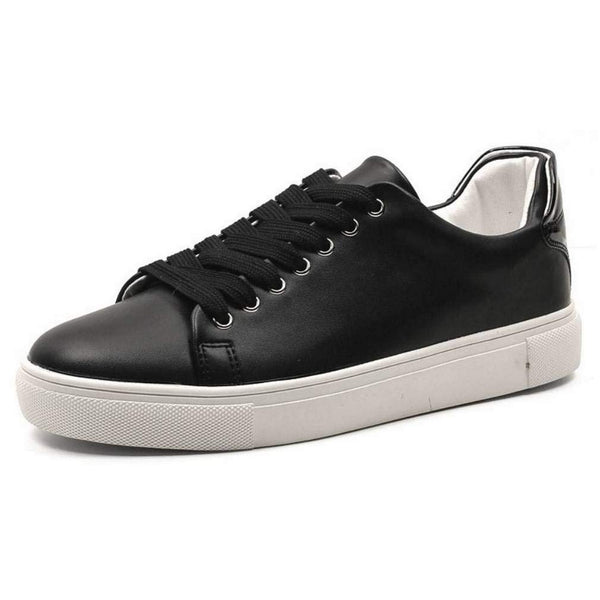 EpicStep Men's Casual Simple Leather Lace Up Tennis Fashion Sneakers Shoes