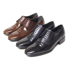 EpicStep Men's Classic Simple Genuine Leather Dress Formal Business Lace up Oxford Shoes