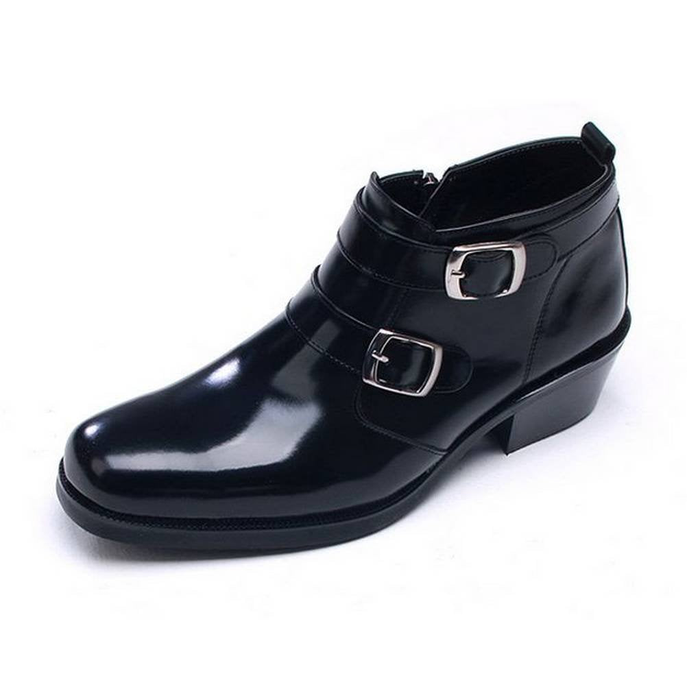 EpicStep Men's Dress Formal Casual Shoes Genuine Leather Zip Ankle Boots