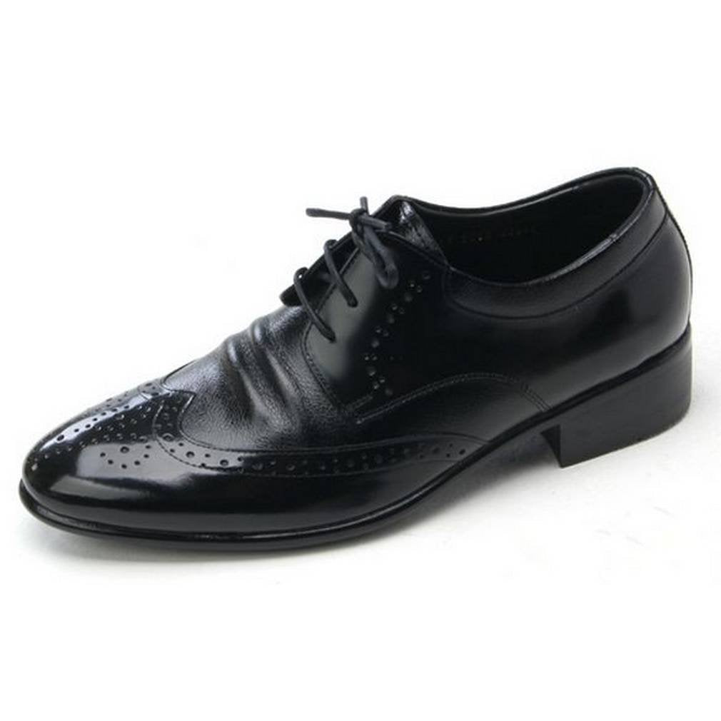 EpicStep Men's Genuine Leather Wingtip Shoes Dress Formal Business Casual Lace Up Oxfords Loafers
