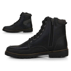 EpicStep Men's Casual Zip Lace Up Outdoor Walking Military Combat Caterpillar Derby Boots Shoes