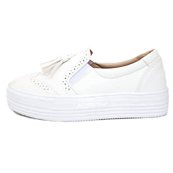 white-slip-on