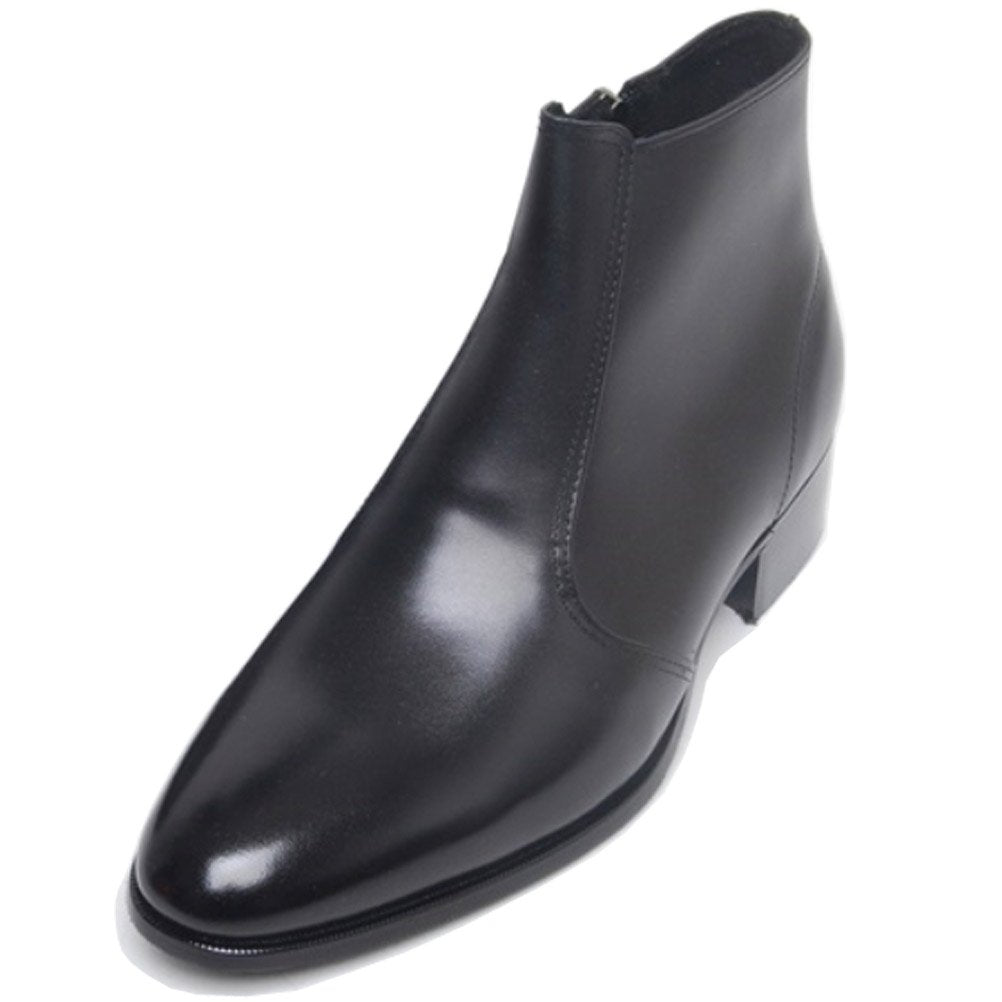 EpicStep Men's Genuine Leather Dress Formal Business Casual Zip Shoes Ankle Boots Oxfords Loafers