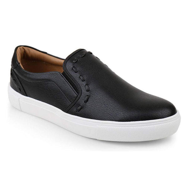 EpicStep Men's Classic Simple Comfort Leather Slip On Sneakers Casual Shoes