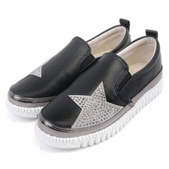 EpicStep Women's Perforated Studs Slip On Fashion Sneakers Loafers Shoes