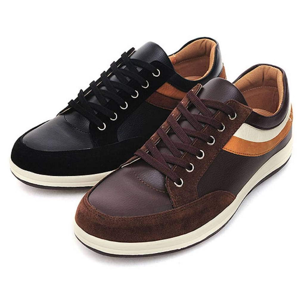 EpicStep Men's Casual Simple Comfort Stylish Leather Lace Up Fashion Sneakers Loafers Shoes
